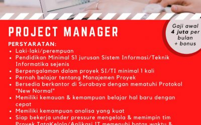 Lowongan : Project Manager